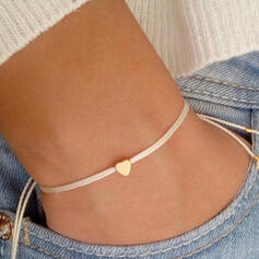 Simple Heart Valentine's Day Braided Rope With Heart Women's Bracelets