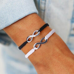 Simple Infinity Alloy Braided Rope Bracelets