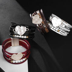 Classic Layered Alloy Leather Rope Women's Ladies' Bracelets