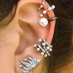 Stylish Delicate Romantic Alloy Beads With Beads Women's Ladies' Girl's Earrings 9 PCS