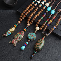 Beautiful Lovely Exotic Ceramic With Resin Unisex Necklaces