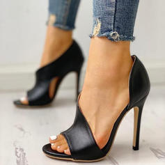 Women's PU Stiletto Heel Sandals Pumps Peep Toe Heels With Others shoes