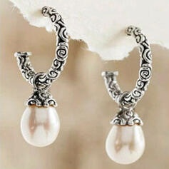 Attractive Charming Pretty Elegant Alloy With Pearls Earrings