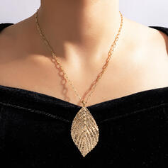 Attractive Charming Elegant Delicate Alloy With Leaf Women's Ladies' Necklaces