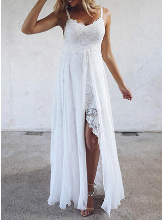 Lace/Solid Sleeveless A-line Slip/Skater Party/Vacation Maxi Dresses