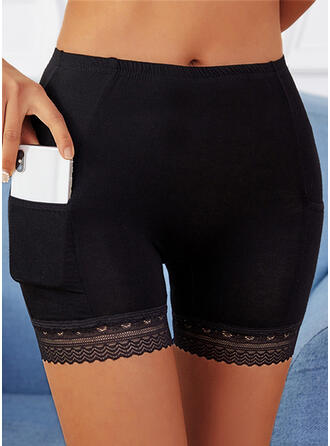 Solid Lace Sexy Skinny Shorts Leggings