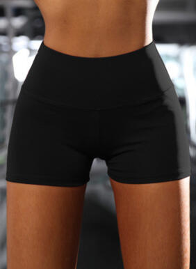Solid Sporty Stretchy Shorts
