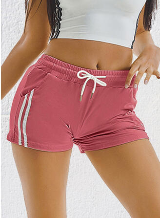 Solid Drawstring Casual Sporty Shorts